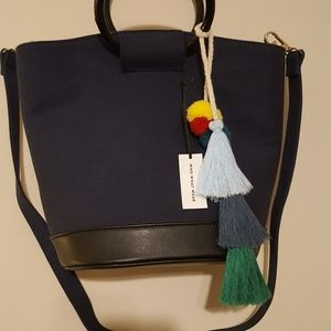 Navy Blue Who, What, Wear Purse